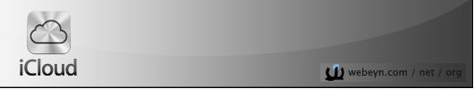 iCloud banner