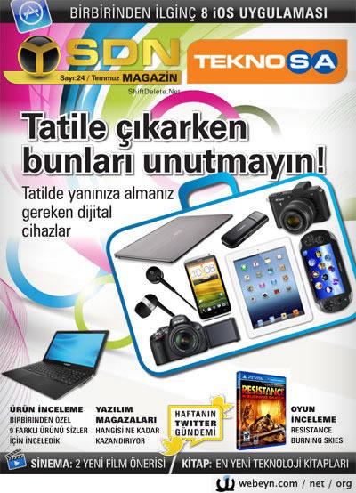 SDN Teknosa Magazin 24.sayı kapağı
