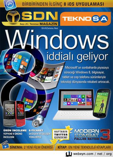 SDN Teknosa Magazin 25.sayı kapağı
