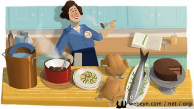 Julia Child Google logosu