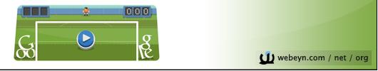 Google - Londra 2012 futbol banner