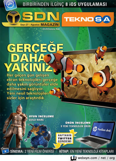 SDN Teknosa Magazin 27.sayı kapağı
