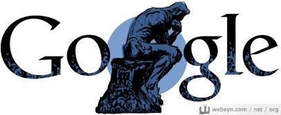 Auguste Rodin Google logosu