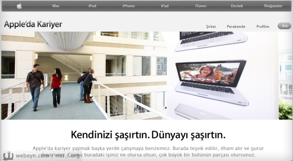 Apple'da Kariyer