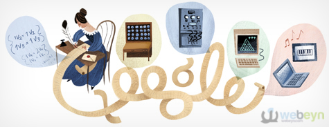 Ada Lovelaces Google logosu