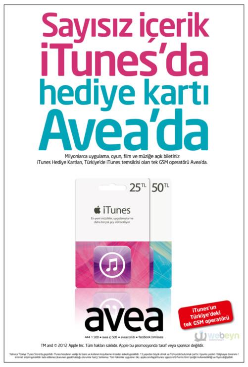 iTunes Hediye Kartları - Avea