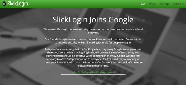 SlickLogin web sitesinde yer alan metin
