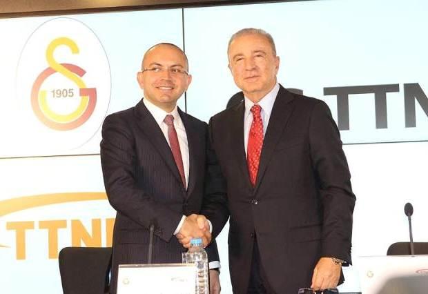TTNET Genel Müdürü Abdullah Orkun Kaya, Galatasaray Spor Kulübü Başkanı Ünal Aysal