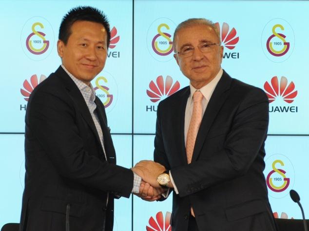 Huawei Türkiye Genel Müdürü Zhao Gang - Galatasaray Spor Kulübü Başkanı Ünal Aysal