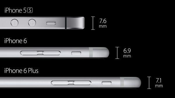 iPhone 6 ve iPhone 6 Plus, iPhone 5S'ten daha ince